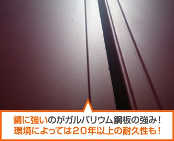 錆に強いガルバリウム鋼板