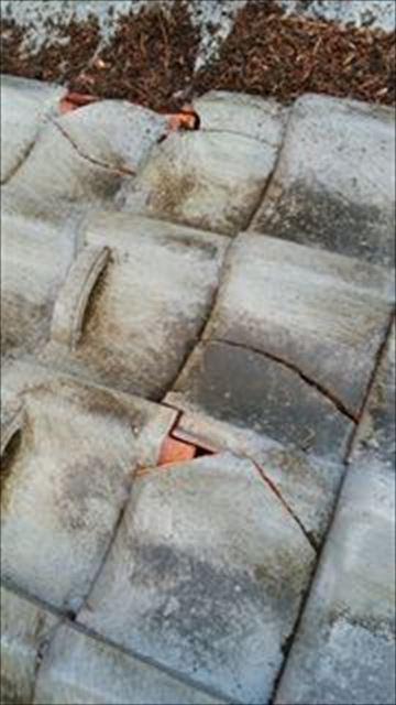瓦屋根雨漏り