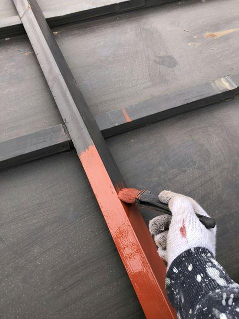 諏訪市中洲M邸屋根塗装ケレンサビ止め
