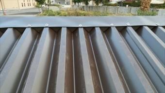波型スレートカバー工法