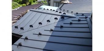 屋根カバー工法 立平葺き
