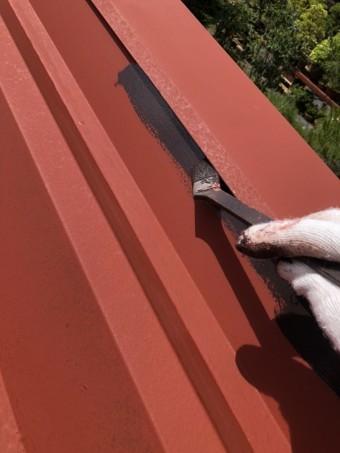 安曇野市折半屋根塗装 (21)