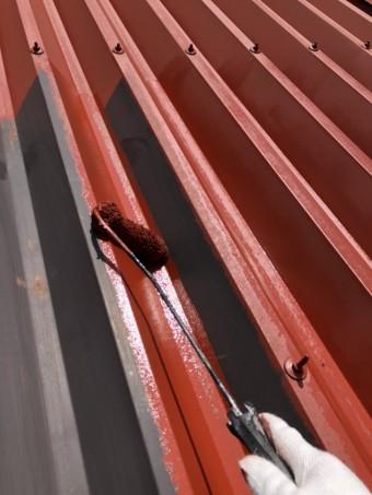 安曇野市折半屋根塗装 (9)