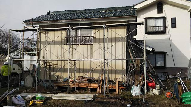東筑摩郡麻績村M邸物置屋根葺き替え