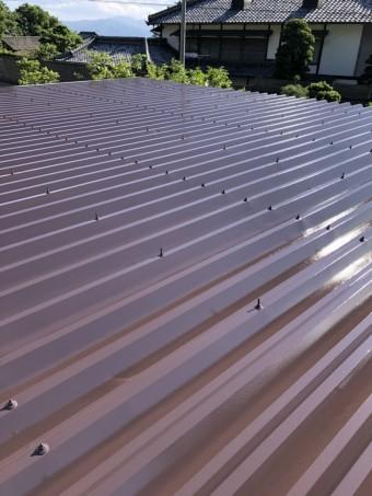 安曇野市折半屋根塗装 (27)