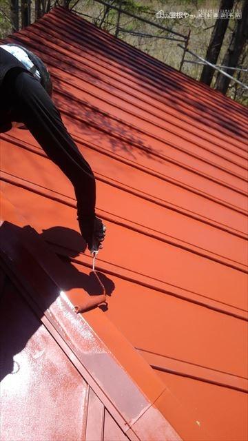 茅野市北山U邸別荘屋根塗装