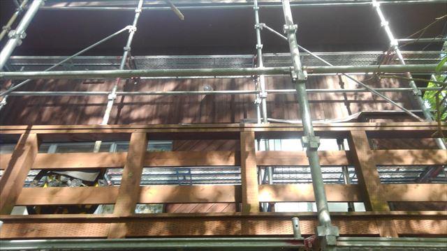別荘外壁木部塗装