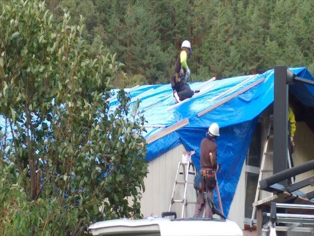 台風被害屋根工事