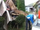 台風で飛んだ屋根