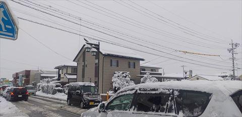 雪止め効果1日目