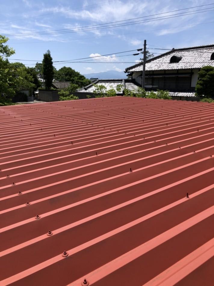 安曇野市折半屋根塗装 (15)