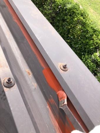 安曇野市折半屋根塗装 (7)
