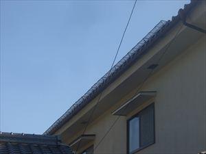 瓦屋根 雪止め設置完了