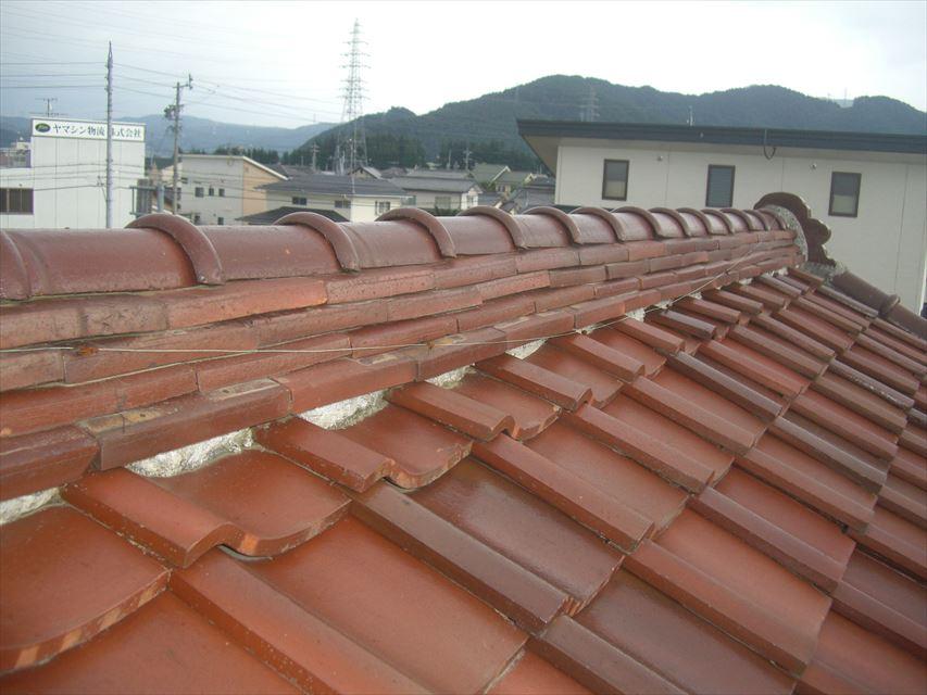塩尻市宗賀で台風被害!火災保険を使って屋根瓦の補修をしました