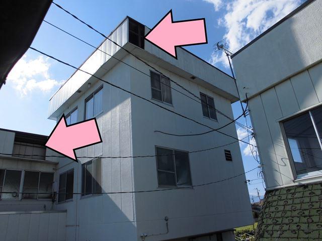 松本市寿 台風21号被害アルミパネル飛散‼ 火災保険適応物件