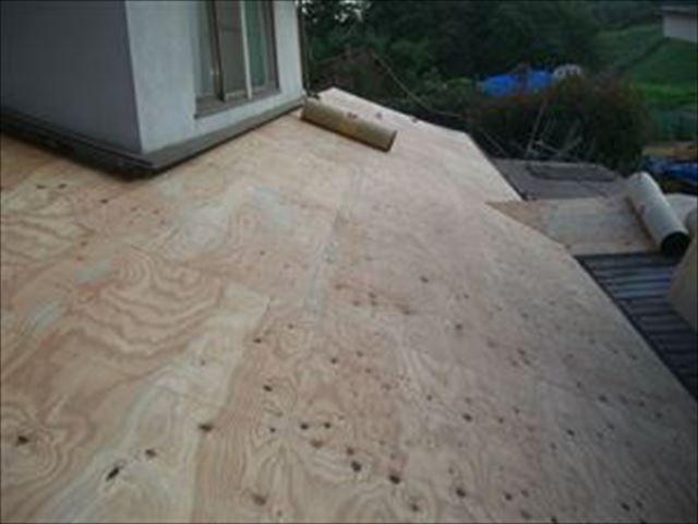 屋根 野地板 ルーフィング