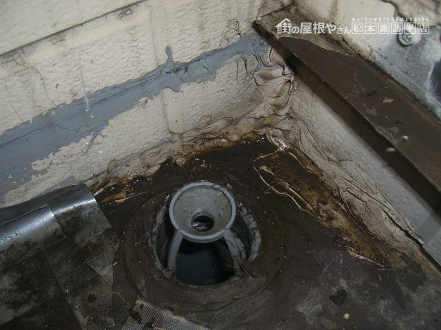 松本市新村ベランダ漏水