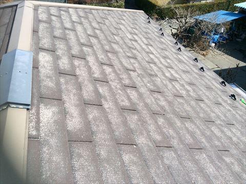 スレート割れた屋根