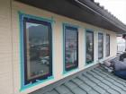 辰野町外壁塗装 サッシコーキング
