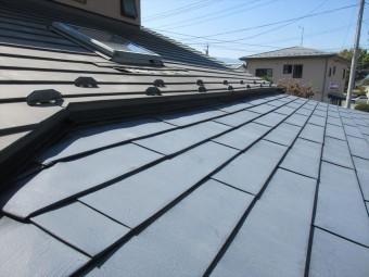 松本市笹賀 屋根塗装下見
