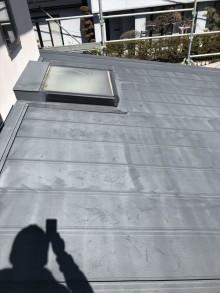 松本市屋根フッ素塗替え施工前