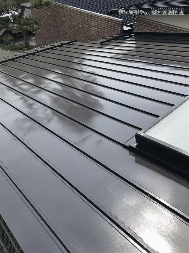 松本市屋根フッ素塗替え施工後
