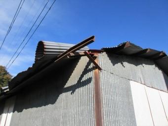 安曇野市三郷 倉庫屋根葺き替え