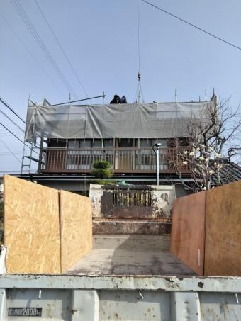 松本市両島 瓦から板金 葺き替え