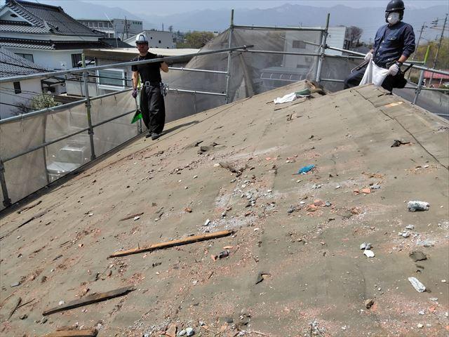 松本市両島 屋根葺き替え 瓦