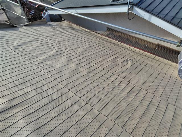 松本市両島 瓦から板金屋根 葺き替え 防水シート
