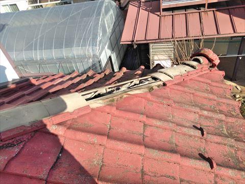塩尻市にて雨漏りによるお悩みからセメント瓦を撤去し葺き替え工事
