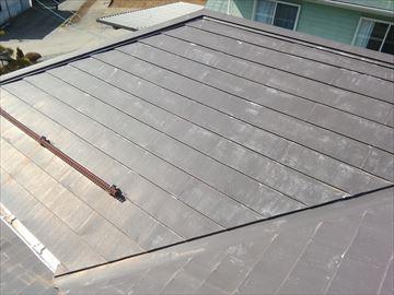 富士見町で以前塗替え歴があるウッドピースの屋根を調査してきました