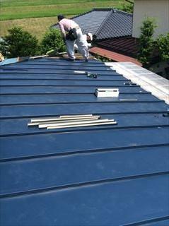 トタン屋根葺き替え