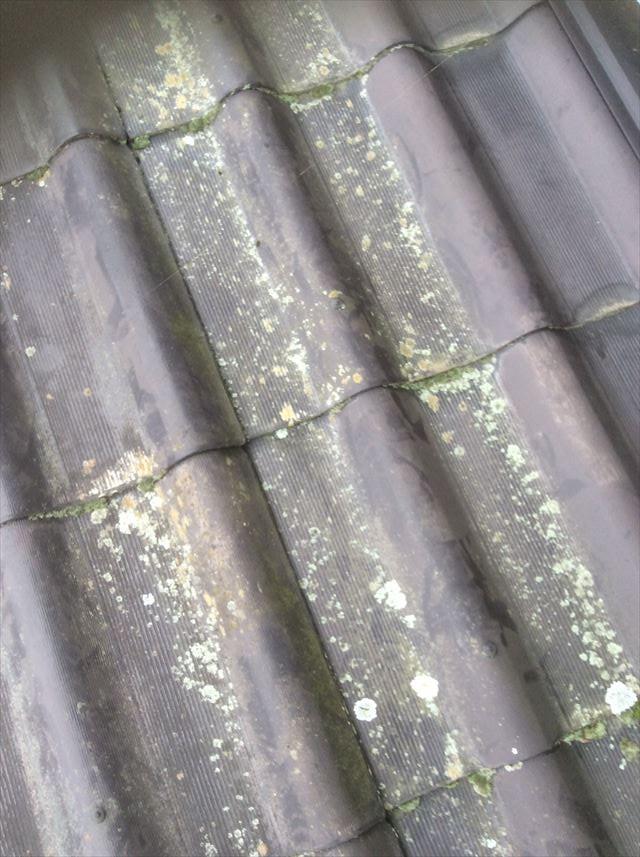 安曇野市で屋根塗装のご依頼塗装ができるかどうかのパッチテスト