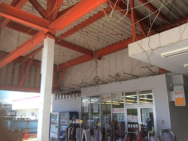 大型商業施設台風被害