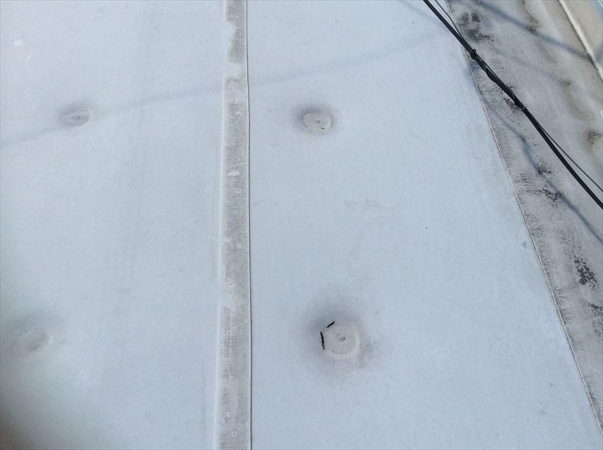塩ビシート防水固定ディスク周辺破断