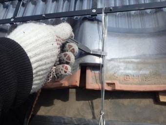 瓦屋根雪止め設置