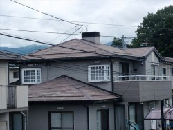 諏訪市屋根塗装施工前