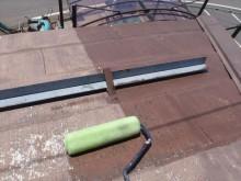 諏訪市屋根塗装下塗り