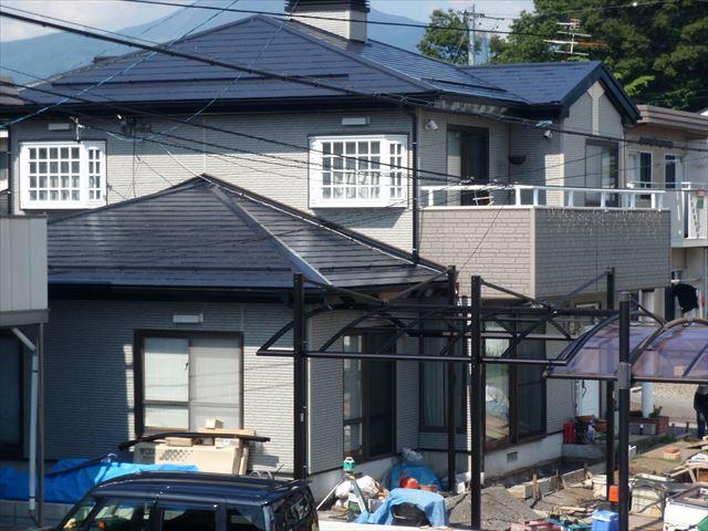 諏訪市屋根塗装完成