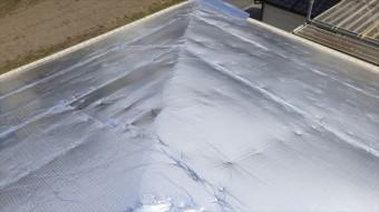 安曇野市三郷 屋根葺き替え 遮熱シート