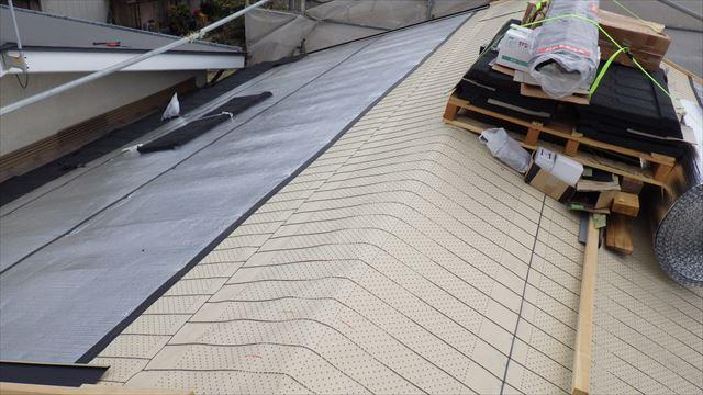 松本市 屋根葺き替え ルーフィング