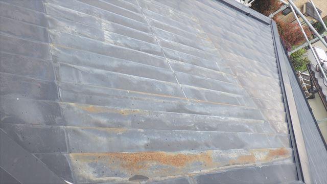 屋根 温水器下 板金 サビ