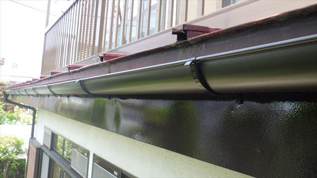 雨樋交換 破風板 塗装