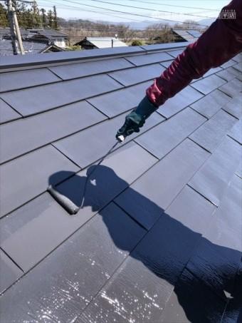 松本市波田F邸屋根塗装