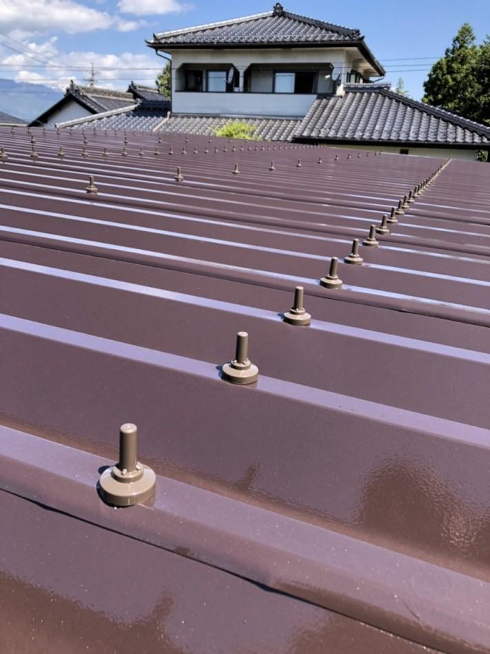 安曇野市折半屋根塗装 (30)