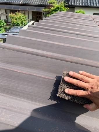 安曇野市折半屋根塗装 (5)