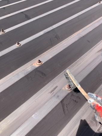 安曇野市折半屋根塗装 (3)