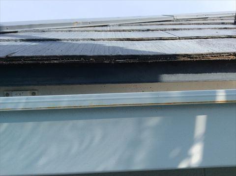 屋根カバー工事施工前唐草