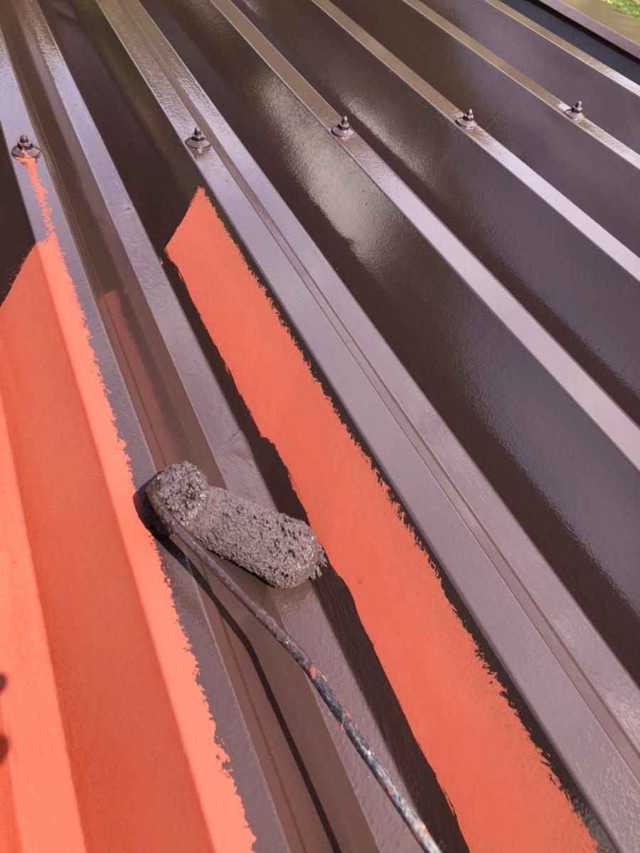 安曇野市折半屋根塗装 (23)